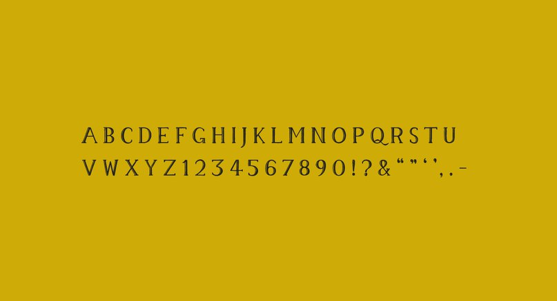 шрифт Memory Typeface