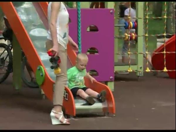 В Ярославле появились новые детские площадки в парке на Резинотехнике