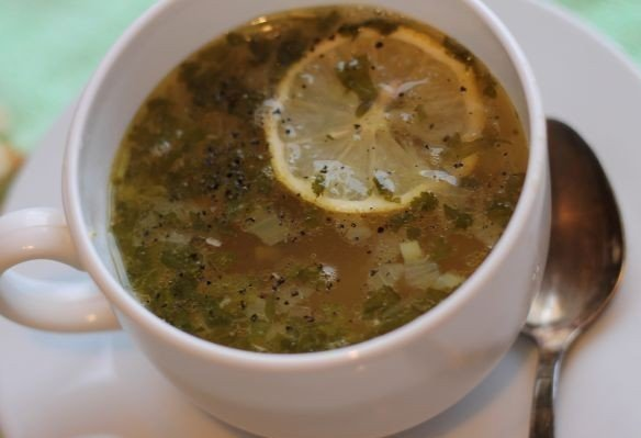 Рыбный суп с горошком