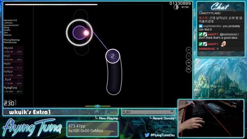 Osu! | FlyingTuna | Mayn - Belief [wkyiks Extra] HD,DT 95.49 460486 3xMiss 593pp | Livestream!