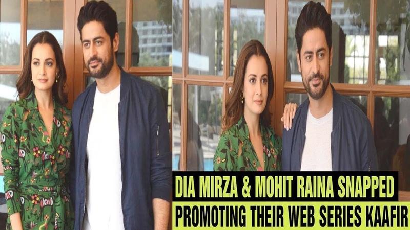 Dia Mirza Mohit Raina snapped promoting their web series KAAFIR