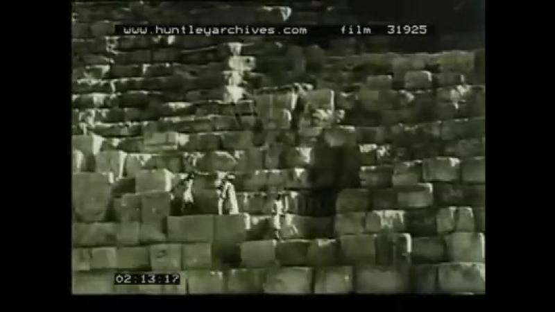 Поездка на вершину Великой пирамиды в 1920-х годах