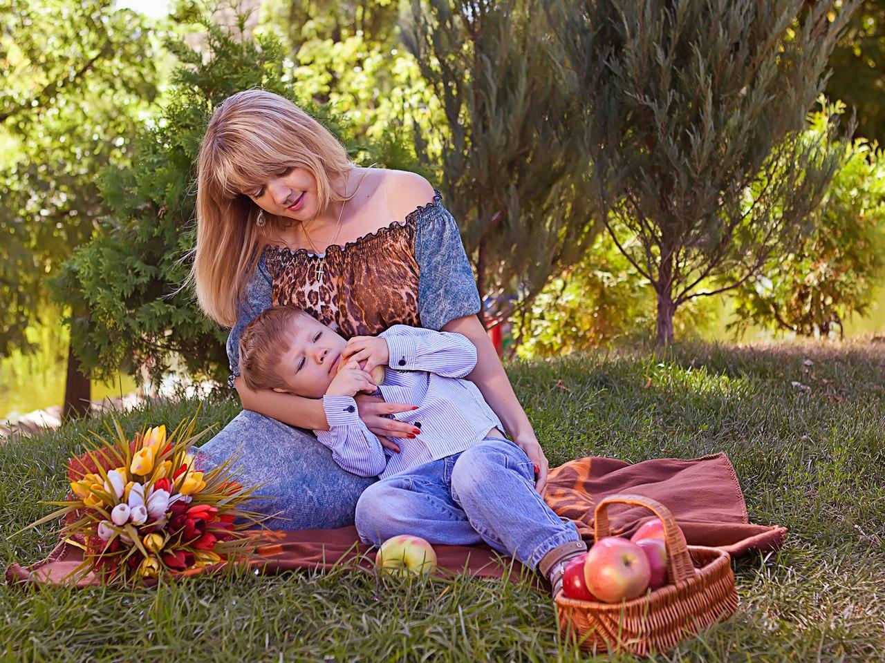 Фотосет мамы с сыном 31 фотография