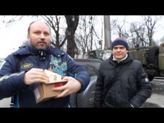 11 02 14 Активисты привезли солдата подарки из РФ, РБ, Украины, Турции  Русский шоколад