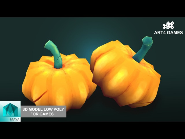 3D Model low-poly for games with Autodesck Maya 2016