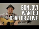 How To Play The Intro to Bon Jovi Wanted Dead or Alive Guitar Lesson