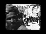 April 1897 - Jaffa Gate in Jerusalem (speed corrected w added sound)