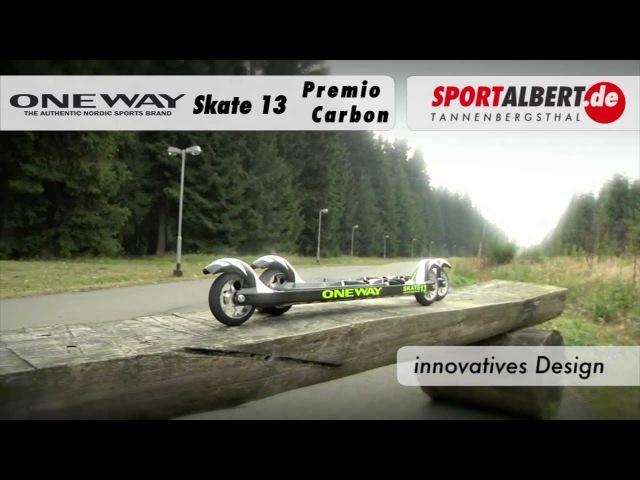 Rollski Skiroller One Way Skate 13 Premio Carbon 20122013 von www.sportalbert.de