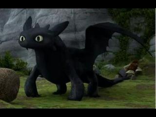 Как приручить дракона смотреть Беззубик спасает викингов новая серия How to train your dragon