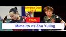 Table Tennis ITTF Swedish Open 2018 Mima Ito vs Zhu Yuling I Highlights Final