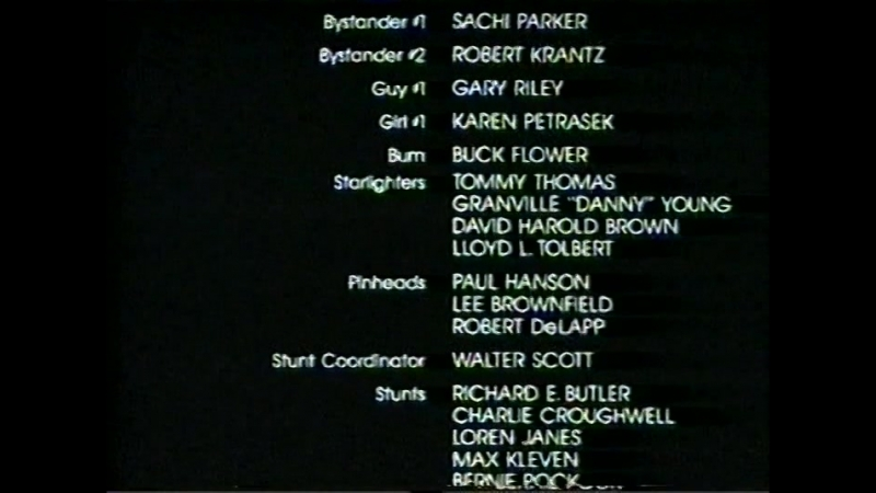 Титры фильма «Назад в будущее» (1985)