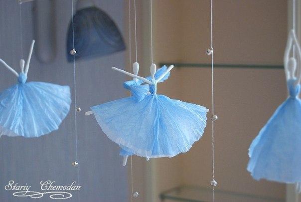 Балерины из салфеток!