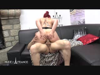 Rose - casting couch of 28 yo chubby redhead whore getting ass plugged and pounded with jizz on her milky br