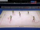 Georgian Team - Rhythmic Gymnastics European Championship 2010 - 1-st Performance