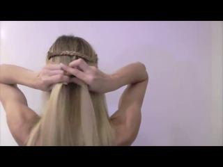 Как сделать объемную косу для тонких волос