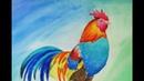 2017 anno del gallo pittura con acrilico corsi per principianti