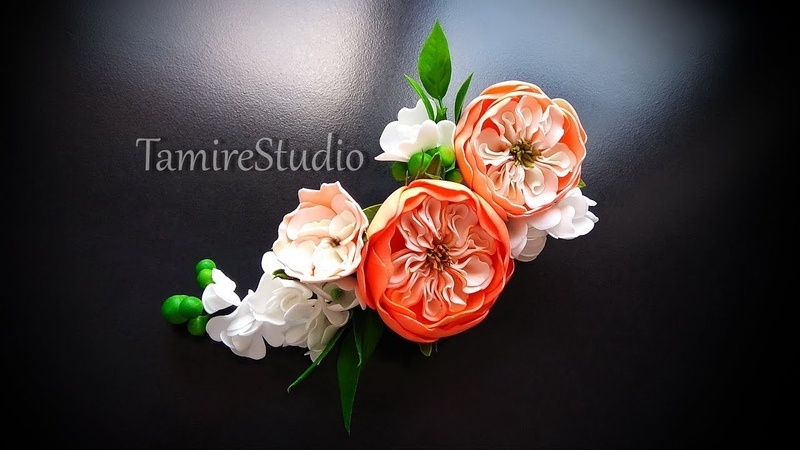 ✨TamireStudio✨DIY✨HOW TO MAKE A BEAUTIFUL HAIR DECORATION WITH FLOWERS FROM COLOR FOAM SHEET CRAFTS✨