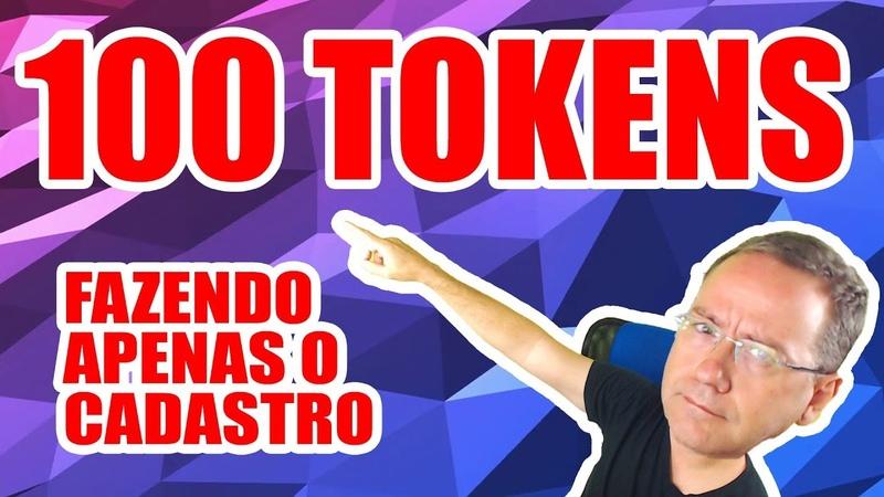 Nova exchange pagando 100 tokens por cadastro