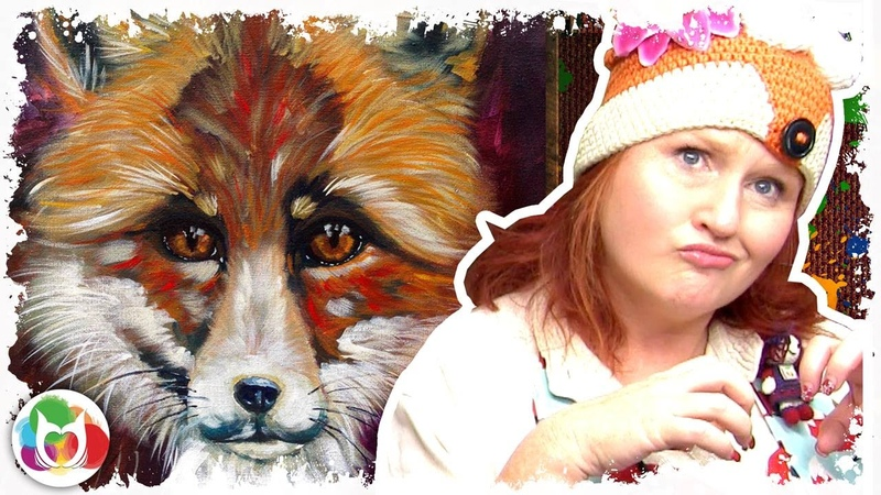 Acrylic painting tutorial A Fox Art Sherpa