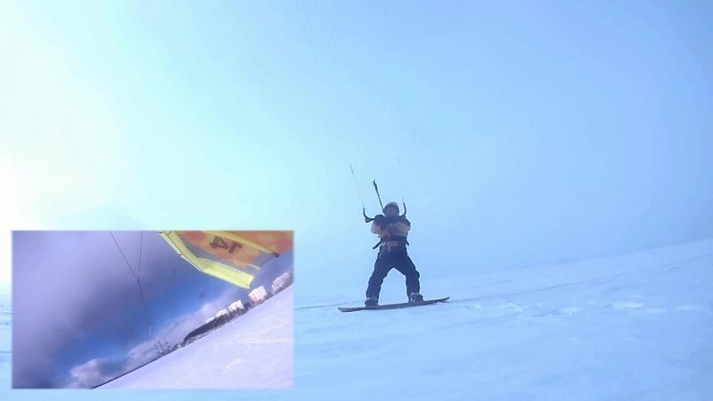 Первые покатушки snowkiteserf isetskoe sredneuralsk kiteserfing snowkiting