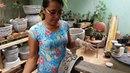 Rosi decorações em vaso de cimento