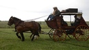 Hansen Wheel Wagon Shop client, Roger Haley, Takes His Stagecoach for a Spin