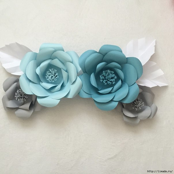 Гигантские цветы из бумаги. Роза. (6 фото) - картинка