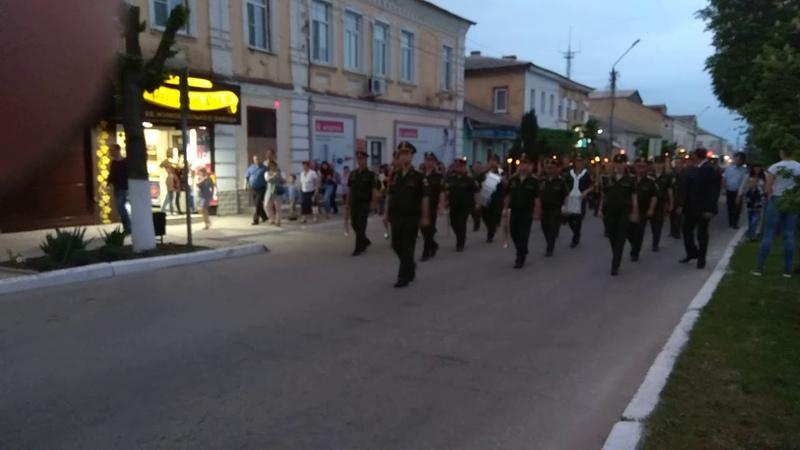 Традиционное Факельное шествие 8 мая 2018, Острогожск
