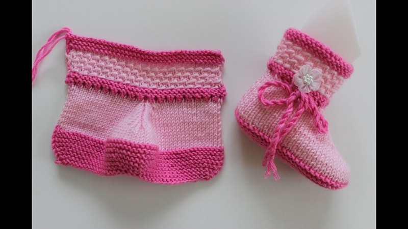 İki Şişle İki Renkli Bebek Botu Yapılışı Kolay Bebek Patiği Modelleri
