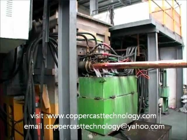 Horizontal Continuous Casting Machines copper video no 1 www.coppercasttechnology.com