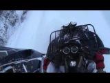 winter on atv cf moto 500 and stels 500 gt