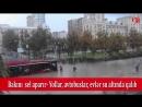 Bakı su altında qaldı-Yollar,evlər avtobuslar.mp4