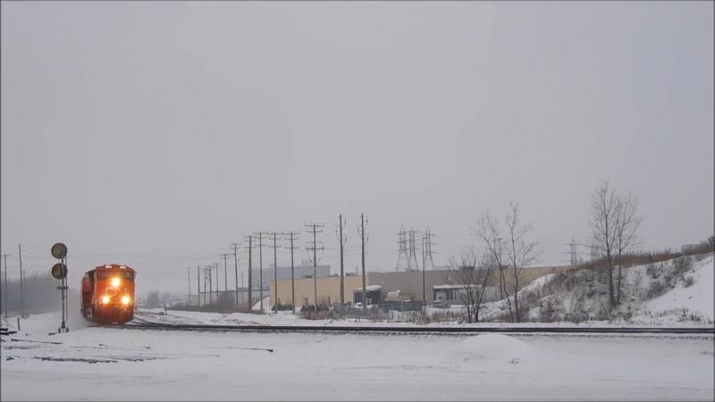 Railfanning CN at Portage Junction ET44ACs and Potash Train 01202016