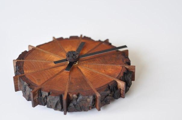 Часы из дерева. #DIY_Идеи