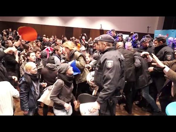 AfD Köln zeigt wie gewaltbereit die LINKE ANTIFA ist 20 12 2018