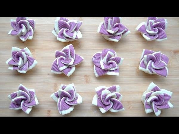 【西北小强English Sub】创意紫薯双色花卷,香甜松软- Steamed twistedbread roll,Purple sweet potato