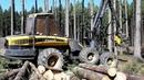 Harvester Ponsse Ergo 6W Felling trees in the forest!!!
