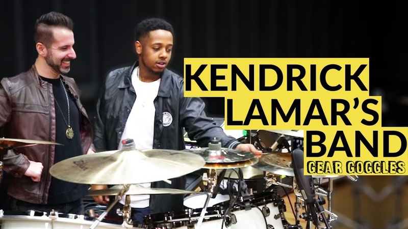 Gear Goggles   Kendrick Lamar's BAND. Rico Nichols, Tony Russell, Rob Gueringer   GRAMMY rehearsal
