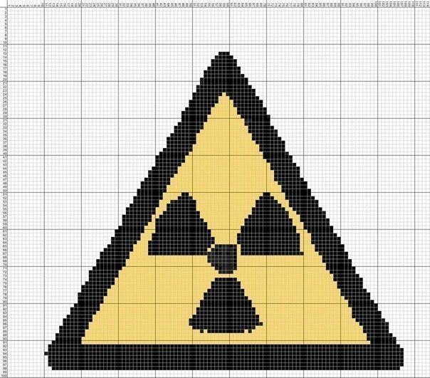 Фигура 13 знак радиации