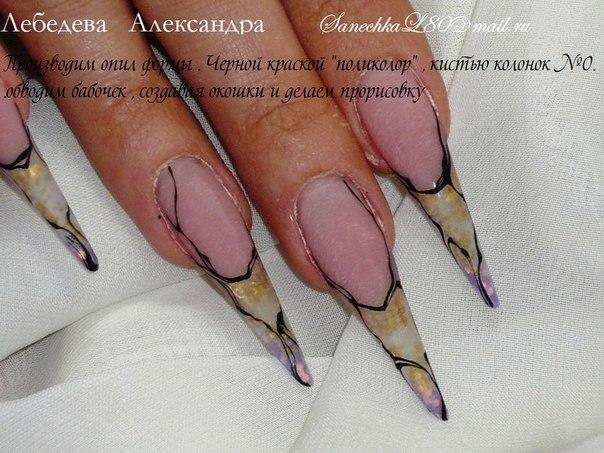 дизайн ногтей от александры лебедевой: