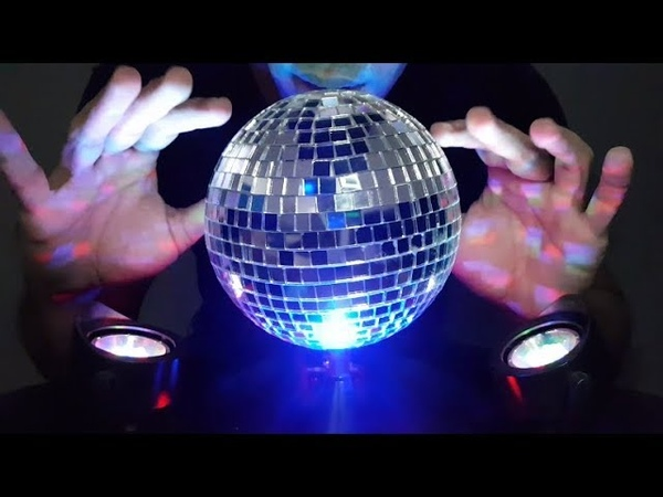 ASMR 🕺 Tingly disco ball 💃 Soft spoken | Whispers | Brushing | Tapping