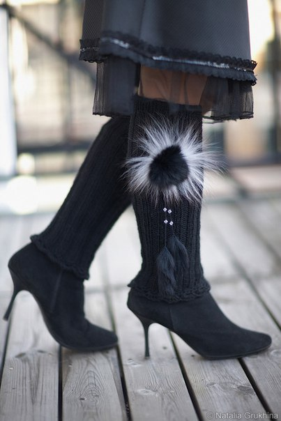 在寒冷天气里的温暖腿套 - maomao - 我随心动