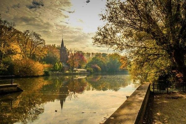 Осень в брюгге бельгия