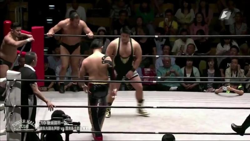 Kaito Kiyomiya, Koji Doi, Shingo Takagi vs. Naomichi Marufuji, Shotaro Ashino, Tatsumi Fujinami (Riki Choshu Produce - Power Hal