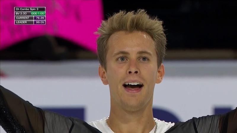 Michal BREZINA .FS -- Skate America 2018 【NBC】