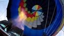 Полёт на воздушном шаре прыжок