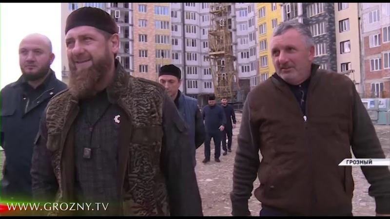 Рамзан Кадыров посетил с инспекцией строящиеся крупные объекты Грозного