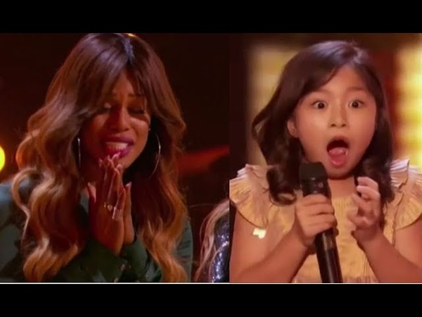 Celine Tam Wonder-child Singer Gets Laverne Coxs GOLDEN BUZZER | Americas Got Talent 2017