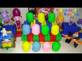KINDER SURPRISE EGGS. Unboxing 11 best Kinder Surprise Play Doh. Обзор 11 лучших Киндер Сюрпризов.
