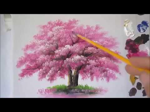 Akrilik Boya Teknikleri Ağaç Yapımı. Ağaç Çizimi.